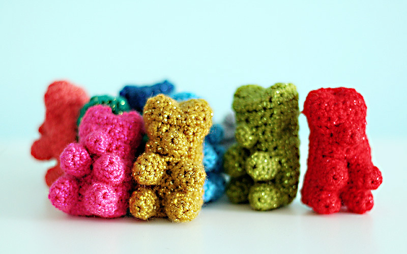 Glitter Gummy Bear Pattern ? now available at LionBrand ...