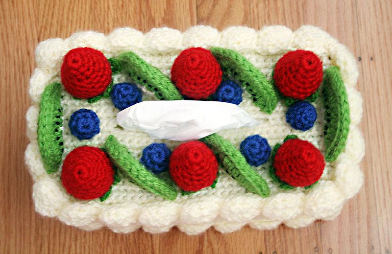 Crochet Patterns Michaels : New Free Crochet Pattern at Michaels.com: Chiffon Cake Tissue Box Cozy ...