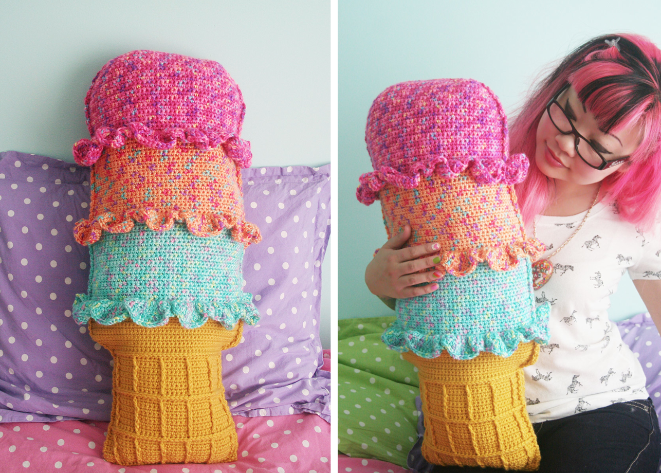 Free Pattern at Michaels.com: Rainbow Sherbet Throw Pillow | Twinkie ...