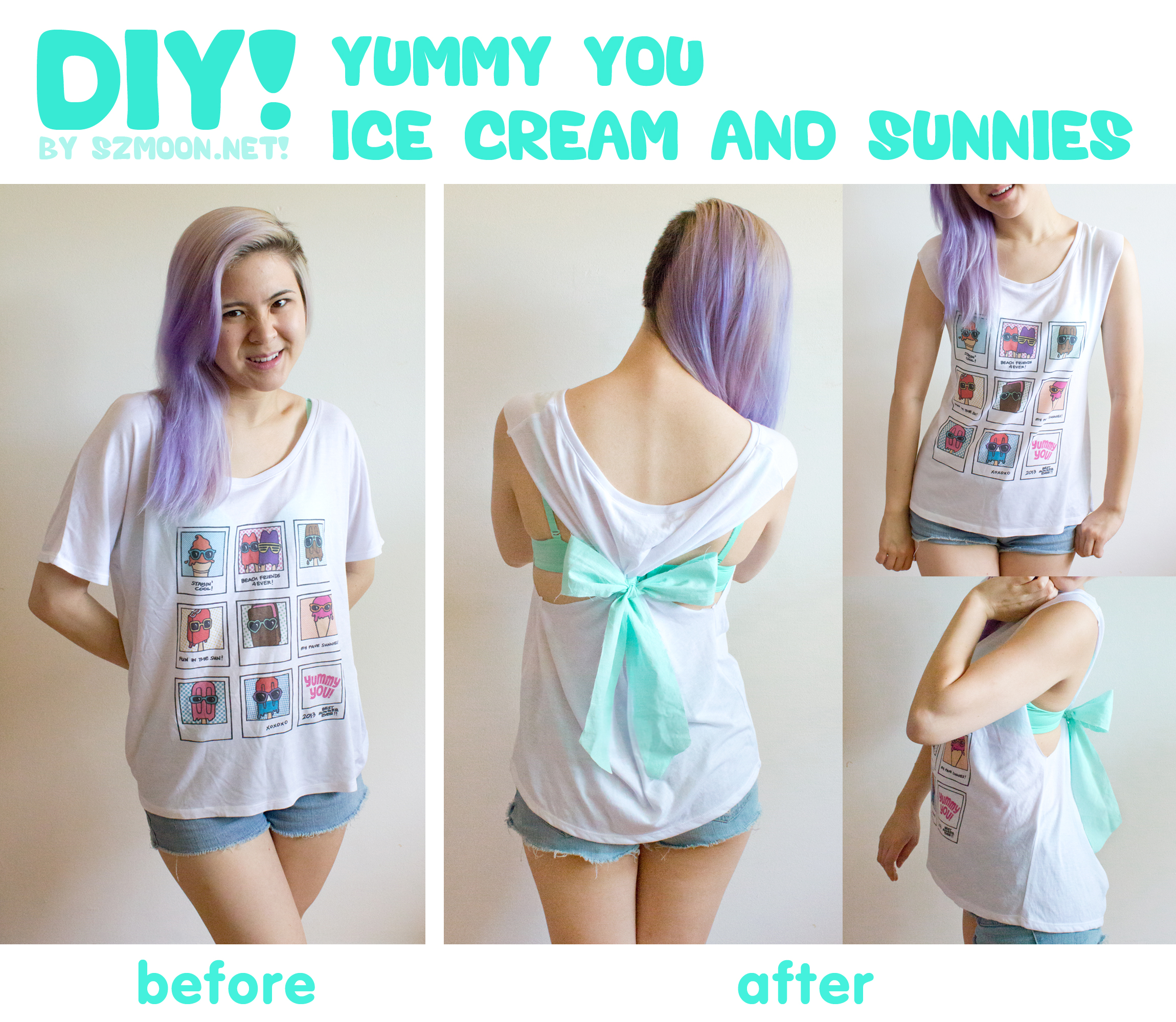T-shirt DIY with Ice Cream & Sunnies Tee! (Part Two ...