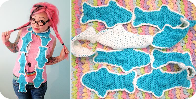Gummy Shark Scarf New Pattern In My Etsy Shop Twinkie Chan Blog