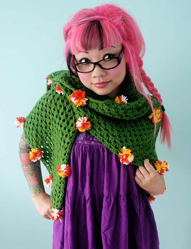 Free Crochet Pattern at Michaels.com: Marigold Triangle Shawl ...