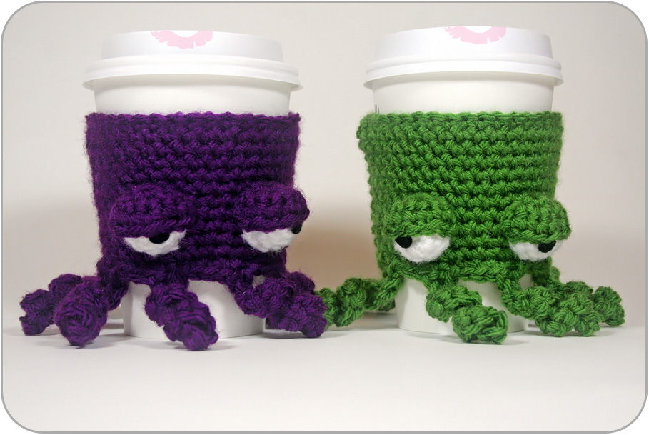Free Pattern Grumpy Octopus Coffee Cup Cozy Twinkie Chan Blog