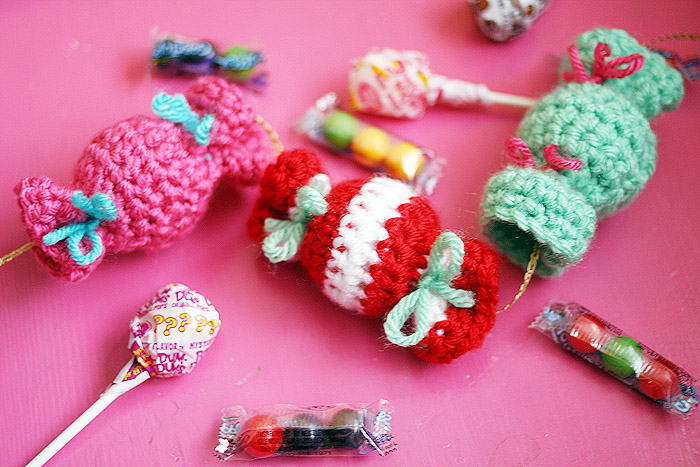 Free Crochet Pattern Video Tutorial Candy Garland Or Candy