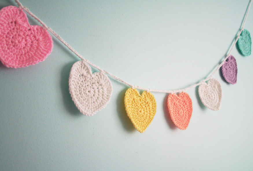 Free Pattern Conversation Heart Garland Twinkie Chan Blog