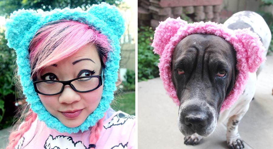 Free Crochet Pattern Teddy Bear Ear Warmer For Dogs Twinkie Chan Blog