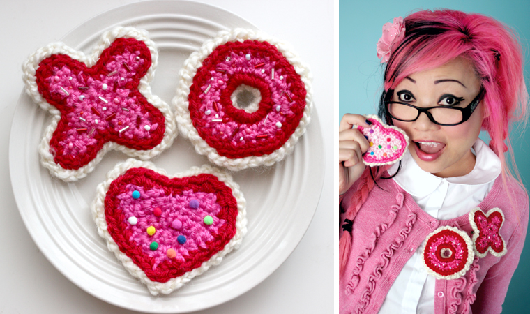 Crochet Valentine : Twinkie Chans Blog - Crochet Pattern: Valentine?s Day Sugar Cookies ...