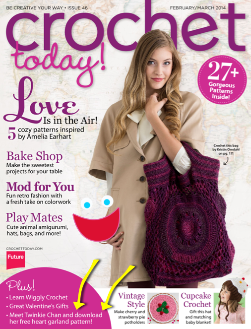 Guess who?s in Crochet Today Magazine? Twinkie Chan Blog