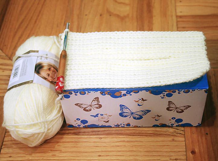 Free Crochet Pattern Cake Tissue Box Cozy Chiffon Cake With Fruit