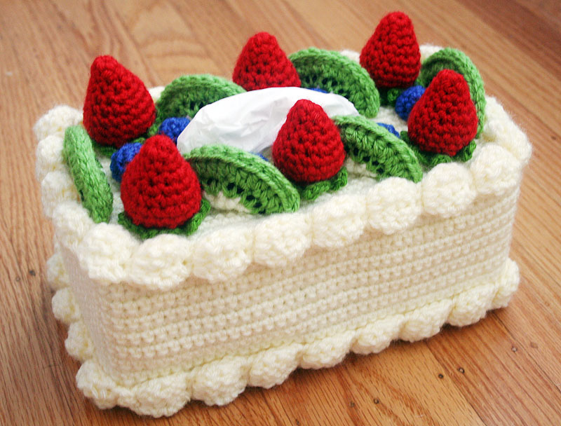 Cute Crochet Double Layered Cake Boxed with Mice 2 Choices