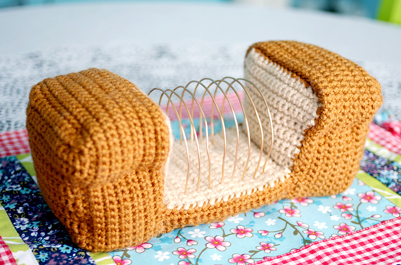 Free Crochet Pattern Amp Video Tutorial Bread Loaf Letter Organizer Twinkie Chan Blog