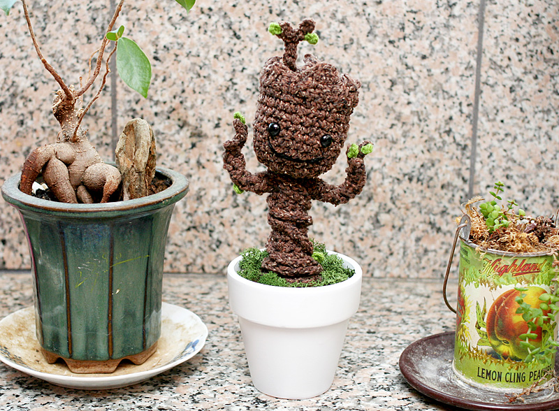 Free Crochet Pattern: Potted Baby Groot from Guardians of ...