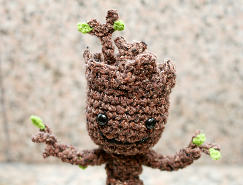 Free Crochet Pattern Potted Baby Groot From Guardians Of