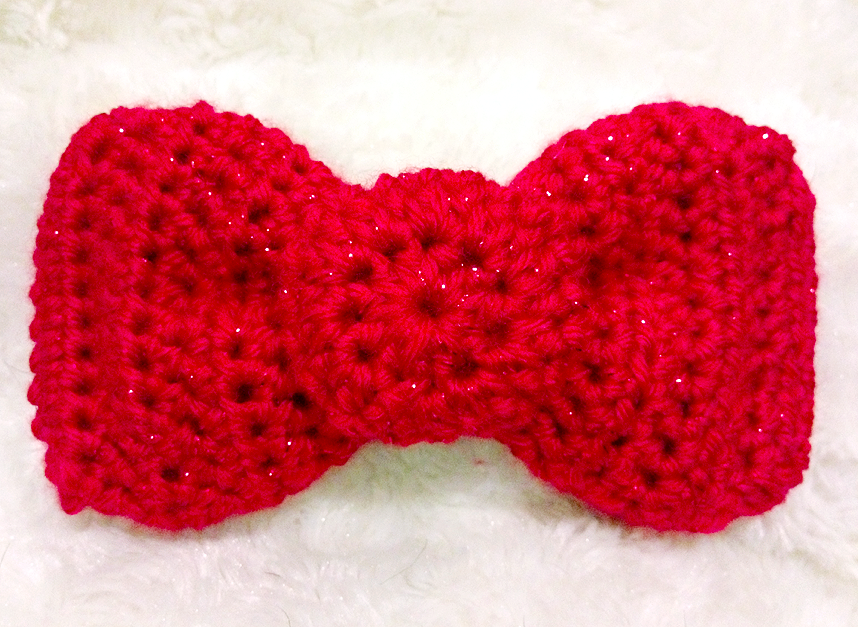 Free Crochet Pattern Hello Kitty Style Red Bow Shoe Clips