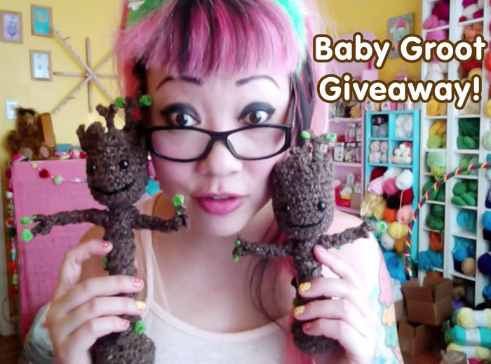 Crocheted Baby Groot Video Tutorial & Giveaway! Twinkie ...