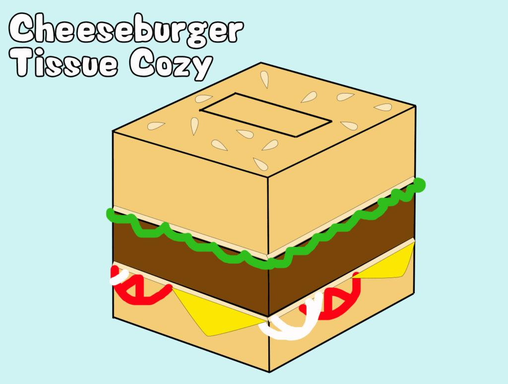 Project 08 - Cheeseburger Tissue Box Cozy