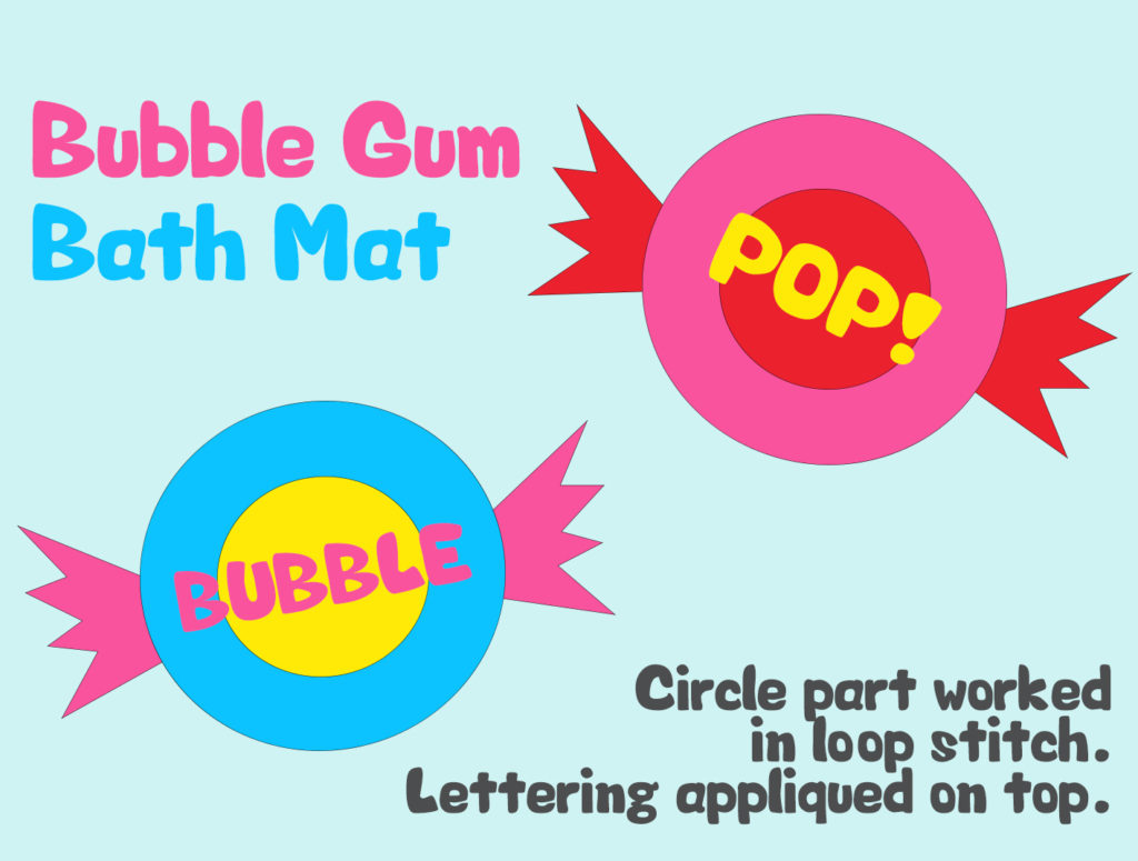 Project 15 - Bubble Gum Circle-Rug