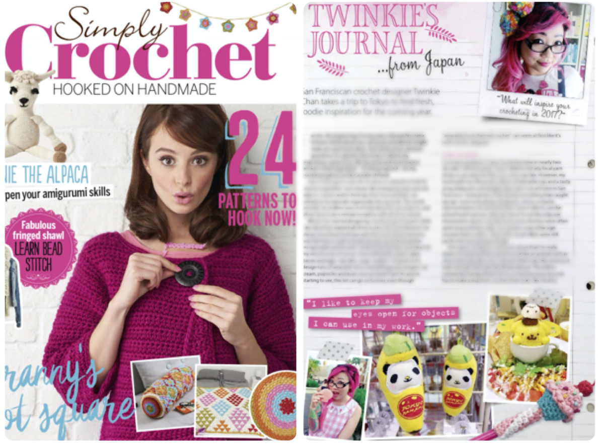 Amigurumi Magazine Uk : My guest column in simply crochet magazine issue twinkie
