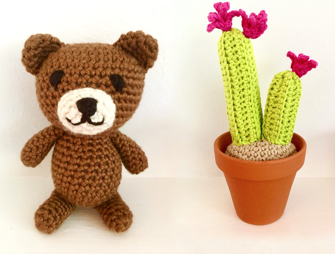 Amigurumi Teddy Bears : Cactus and teddy bear patterns for classes at michaels stores
