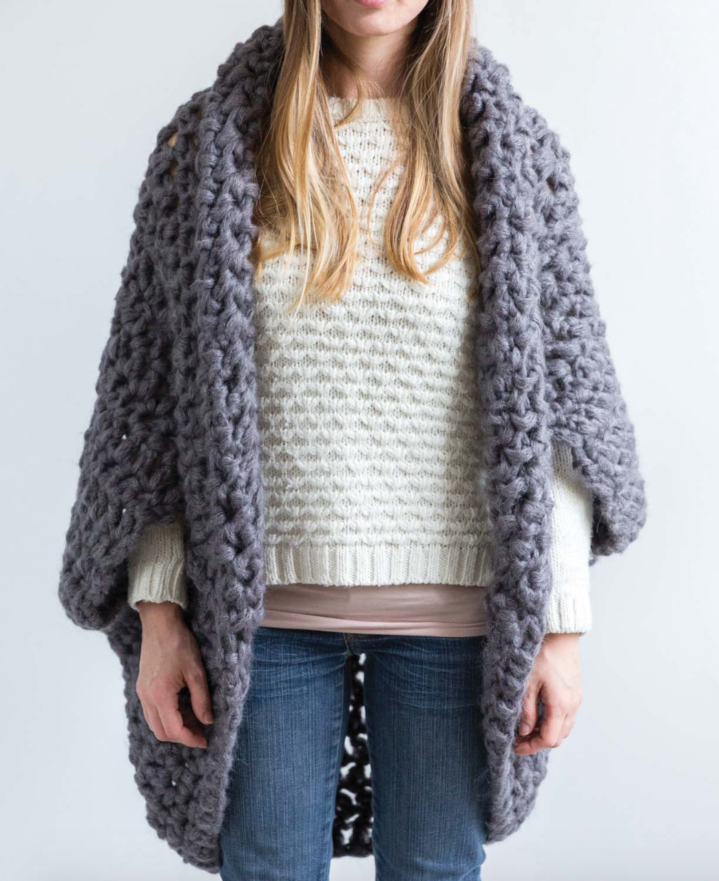 10a26cfc2 I decided to make the Cocoon Shrug and show you guys. Disclaimer  I wanted to  buy the exact yarn that Sarah used (Rico Fashion Gigantic Mohair)